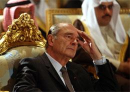 Jaques Chirac er på offisielt besøk i Saudi-Arabia. (Foto. Reuters/Scanpix)