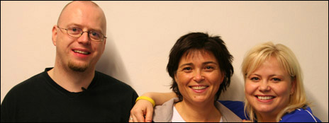 Jan Åge og Jeanette skal lære å spise riktig av Kirsti. Foto: NRK, Tor Risberg