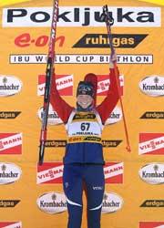Linda Tjørhom vant sitt fjerde verdenscuprenn i karrieren. (Foto: AFP)