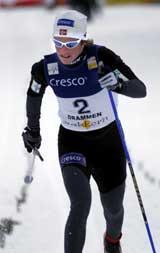 Hilde Gjermundshaug Pedersen i aksjon under sitt siste verdenscuprenn. (Foto: Scanpix)