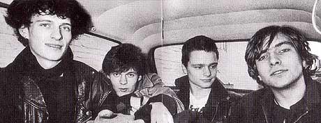 Bilde fra Wannskrækks samlealbum Riff (1980 - 1985). Fra venstre: Persi Iveland, Sola Jonsen, Prepple Houmb og Kjartan Kristiansen. Foto: Faksimile.
