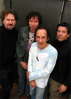 CC Cowboys er plateaktuelle med album på nytt selskap. Fra venstre: Jørn Christensen, Magnus Grønneberg, Per Vestaby og Agne Sæther. Foto: Frederic Moger, Scanpix.