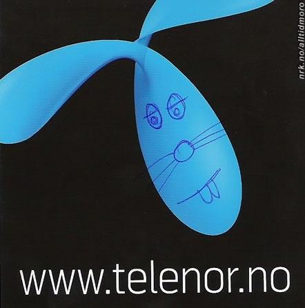 Hva den nye Telenor-logoen egentlig forestiller. (Innsendt av Stig-Lennart Sørensen)