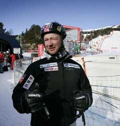 Kjetil André Aamodt etter tirsdagens treningen i Åre. (Foto: Gorm Kallestad / SCANPIX)