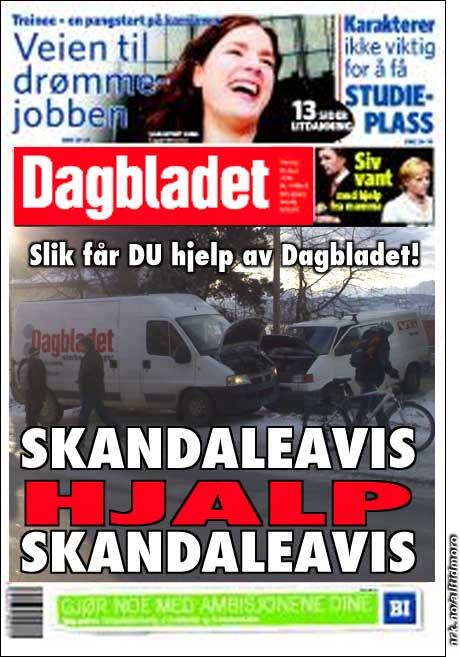 Dagbladets versjon av det inntrufne. (Alltid Moro)