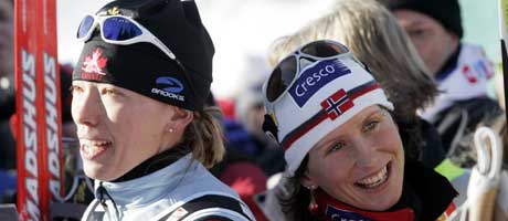 Beckie Scott og Marit Bjørgen (Foto: Lise Åserud / SCANPIX)