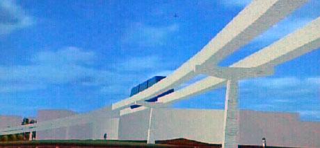 Den førerløse automatbanen mellom Lysaker og Fornebu planlegges ferdigstilt innen 2010. Arkivfoto: NRK