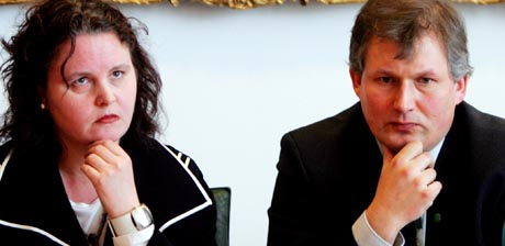 Helseminister Sylvia Brustad og matminister Terje Riis-Johansen. (Foto: Håkon Mosvold Larsen/Scanpix)