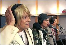 Nikolay, Wilhelm og Andreas i studio (Foto: NRK/P�l Nissen)