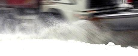 Store snømengder gjør at kommunebudsjettet sprekker. Foto: NRK