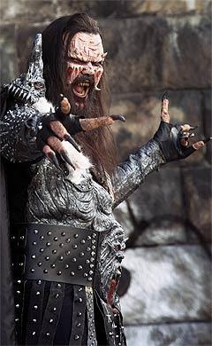 Sjarmtrollet av en vokalist kaller seg også Lordi, og heter i sivil Tomi Putaansuu. Foto: SCANPIX.