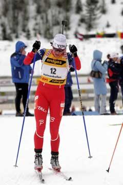 Liv Grete Poiree underveis i sitt siste løp. (Foto: Jarl Fr. Erichsen / SCANPIX)
