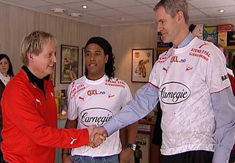 FFK tegnet ny hovedsponsoravtale med Carnegie for få dager siden. Klubben har doblet budsjettet på tre år. Foto: Tobias S. Martinsen/NRK