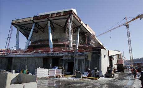 Operaen i Bjørvika er blant byggeprosjektene som blir rammet av streiken. (Foto: Lise Åserud/Scanpix)