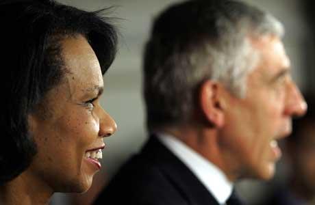 Parhestene Rice-Straw fikk ikke noe gjennombrudd i samtalene med Iraks statsminister. (Scanpix/AFP)