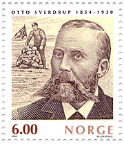 Otto Sverdrup ble hedret på frimerke i 2004. Foto: POSTEN / SCANPIX
