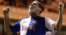 Shefki Kuqi reddet ett poeng for Blackburn mot Wigan (Foto: AP Photo/ Nick Potts, PA)