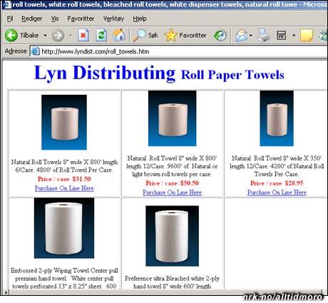 Atle Brynestad casher inn på Lyn-navnet: Her selges det blant annet dopapir og tørkeruller under merket Lyn Distributing.