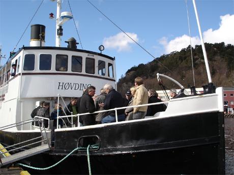Den nye selskapsbåten i Egersund. (Foto: Øystein Ellingsen, NRK)