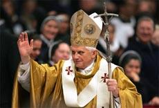 Paven - Guds stedfortreder. Foto Reuters/Scanpix.