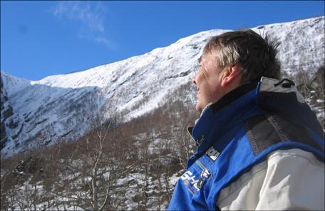 Christian Petterson har fortsatt stor tro på at Eikesdalfjella kan bli et alpineventyr. Foto: Gunnar Sandvik