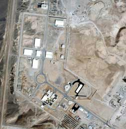 Satellittbilde av Natanz-anlegget, der Iran har anriket uran (Scanpix/AP)