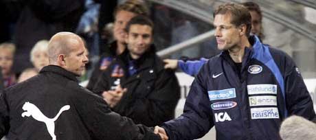 Henning Berg og Kjetil Rekdal møtes til duell mandag. (Foto: Tor Richardsen / SCANPIX)