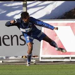 Stabæks Daniel Nannskog feirer 1 - 0-målet. (Foto: Tor Richardsen / SCANPIX)