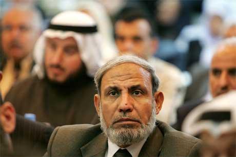 Den palestinske utenriksministeren Mahmoud Al Zahar skulle ha kommet til Jordan i dag. (Foto: Reuters/Scanpix)