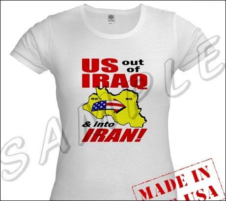 USA ut av Irak, og inn i Iran!