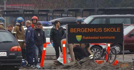 12-åringen ble påkjørt inne på skolens område. Foto: Carl-Erik Larsson