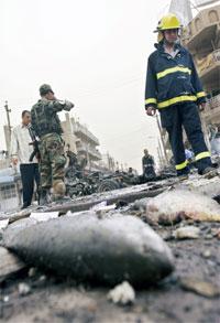 Det har vært minst sju bombeeksplosjoner i Bagdad i dag. (Foto: AP/Scanpix)