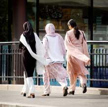 Muslimske jenter i Oslo. (Foto: SCANPIX)