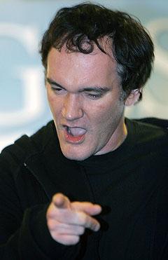 Quentin Tarantino skal regissere film om livet til Jimi Hendrix. Her ser vi filmskaperen skjære grimaser under markedsføringen av sin film «Hostels» på filmfestivalen Sitges International Film Festival i Spania i oktober i fjor. Foto: AP / Scanpix.