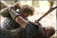 """""""Tristan """" er sterk på velkoreograferte kampscener, heftig sverdsvinging(Foto: Scanbox Entertainment."""