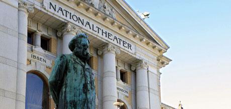 Nationaltheateret. Foto: AFP PHOTO / SVEN NACKSTRAND