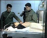 Den palestinske ungdommen ble identifisert ved et sykehus. (Foto: APTN)