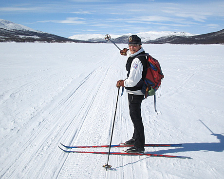 Fjellguide Turid Lindset sitt paradis på Hardangervidda. (Foto: Anne Line Abotnes)