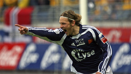 Vikings Alexander Ødegård jubler etter sin skåring mot Start. (Foto: Alf Ove Hansen / SCANPIX )