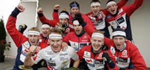 Halden Skiklubbs vinnerlag i Tiomila 2006. Foto: Orientering.se