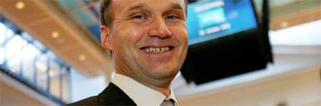 Geir Isaksen smilte fornøyd da selskapet ble introdusert på Oslo Børs i oktober i fjor, og han kan også smile fornøyd i dag. (Arkivfoto: Ørn E. Borgen/ Scanpix)