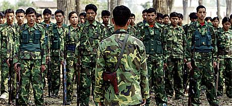 Folkets frigjøringshær er en fraksjon av maoistgeriljaen i Nepal.(Foto:AFP/Scanpix)