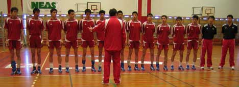 Det kinesiske landslaget skal spille to kamper i Kristiansund. Foto:Anne-Mari Flatset.