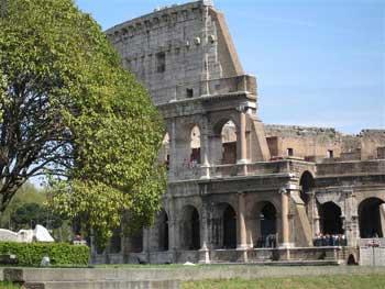 Det berømte Colloseum i Roma