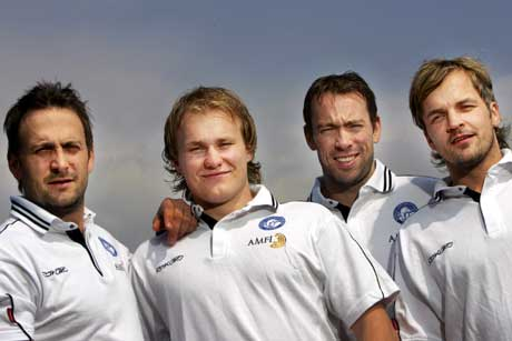 Anders Myrvold, Patrick Thoresen, Tore Vikingstad og Tommy Jakobsen er blant Norges profiler under A-VM. (Foto: Håkon Mosvold Larsen / SCANPIX)
