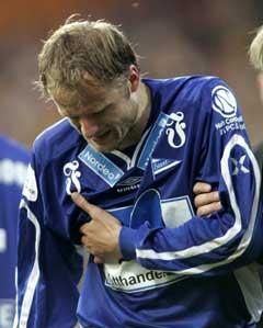 Starts Bård Borgersen måtte gå ut mot Lillestrøm. (Foto: Morten Holm / SCANPIX)