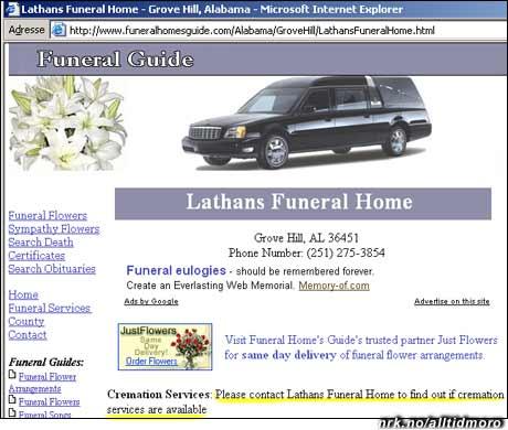 Begravelsesbyrå for late. (Tipset av Trond Eggan)
