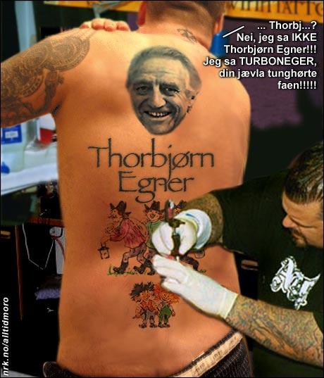 Tunghørt tatovør ble slått helseløs utenfor Kristiansand i går. (Alltid Moro)