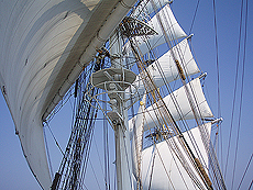 Så går det for fulle seil. Foto Ingvild Valsø.