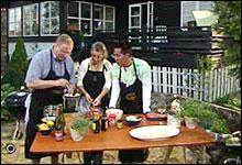 Grilling med Bent Stiansen og Lise Finckenhagen